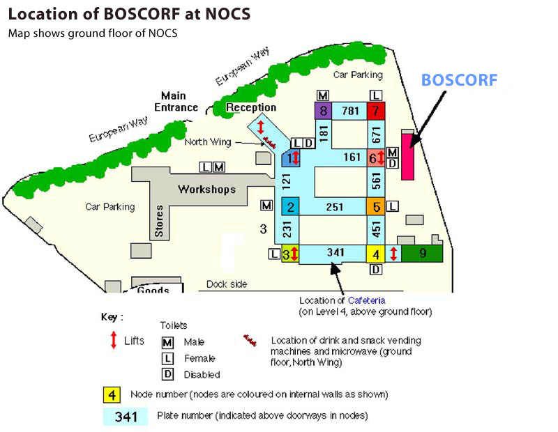 NOC site map